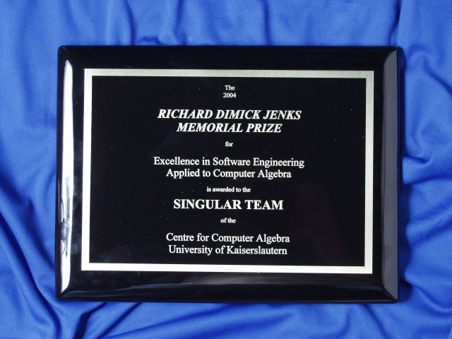 Image of the 2004 Jenks Prize Plaque